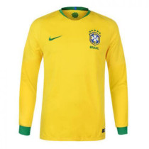 Brazil FIFA World Cup 2018 Home Jersey Long Sleeve Men's