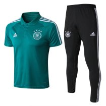 Germany FIFA World Cup 2018 Polo + Pants Training Suit Green