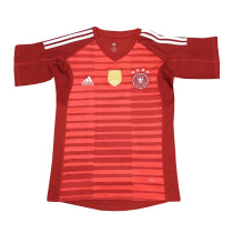 Germany FIFA World Cup 2018 Goalkeeper Red Jersey Short Sleeve Men's