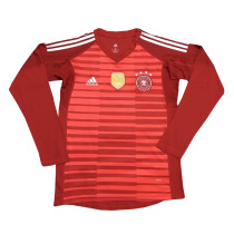 Germany FIFA World Cup 2018 Goalkeeper Red Jersey Long Sleeve Men's