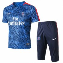 PSG Short Training Suit Light Blue Stripe 2017/18