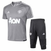Manchester United Short Training Suit Light Grey 2017/18