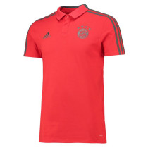 Bayern Munich Polo Shirt Red with Grey Collar 2018