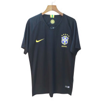 Brazil FIFA World Cup 2018 Goalkeeper Black Jersey Short Sleeve Men's