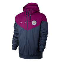 Manchester City Authentic Woven Windrunner Purple Men's 2017/18