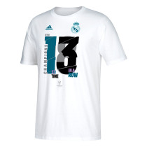 Real Madrid 13 Champions T-Shirt White