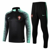 Portugal FIFA World Cup 2018 Training Suit Black Stripe