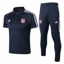 Bayern Munich Polo + Pants Training Suit Royal Blue 2017/18