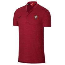 Portugal FIFA World Cup 2018 Polo Shirt Red - Low Neck