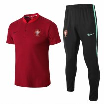 Portugal FIFA World Cup 2018 Polo + Pants Training Suit Red