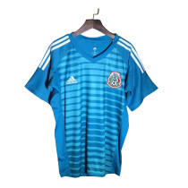 Mexico FIFA World Cup 2018 Goalkeeper Blue Jersey Short Sleeve Men's
