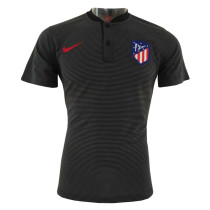 Atletico Madrid Polo Shirt Stand Collar Black 2018