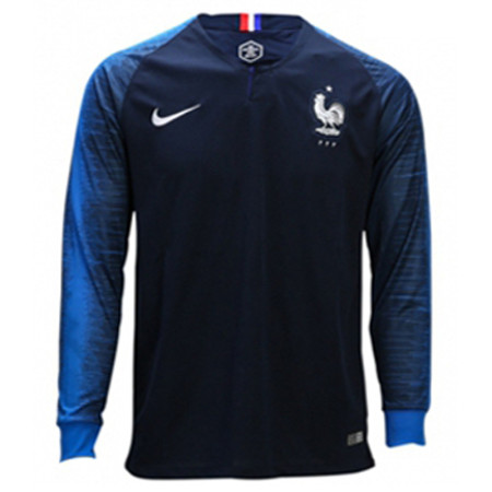 France FIFA World Cup 2018 Home Jersey Long Sleeve Men's