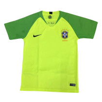 Brazil FIFA World Cup 2018 Goalkeeper Green Jersey Short Sleeve Men's