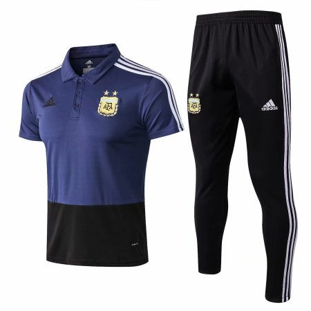Argentina FIFA World Cup 2018 Polo + Pants Training Suit Blue