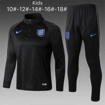 Kids England FIFA World Cup 2018 Training Suit Black
