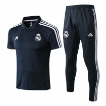 Real Madrid Polo + Pants Training Suit Grey 2018/19