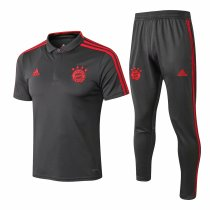 Bayern Munich Polo + Pants Training Suit Grey 2018/19