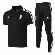 Juventus Polo + Pants Training Suit Black 2018/19
