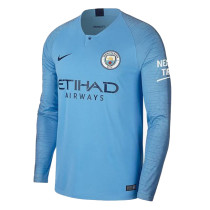 Manchester City Home Jersey Long Sleeve Men's 2018/19