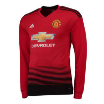 Manchester United Home Long Sleeve Jersey Men's 2018/19