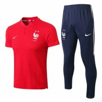 France FIFA World Cup 2018 Polo + Pants Training Suit Red