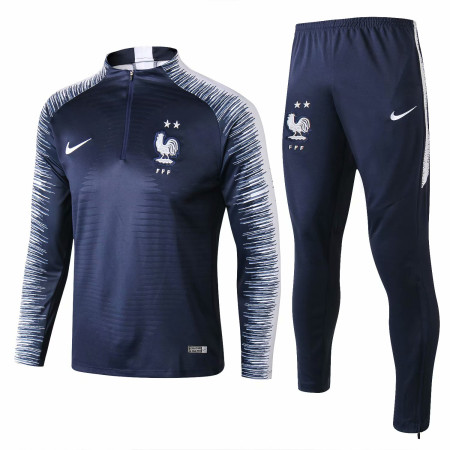 France FIFA World Cup 2018 Training Suit Royal Blue Stripe - 2-Star