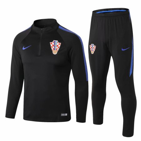 Croatia Training Suit Black 2018​