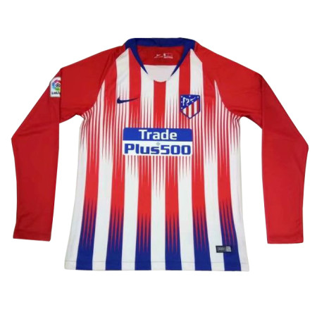 Atletico Madrid Home Jersey Long Sleeve Men's 2018/19