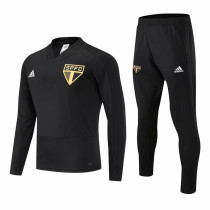 Sao Paulo FC Training Suit V'Neck Black 2018/19