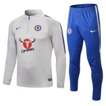 Chelsea Training Suit Light Grey 2018/19