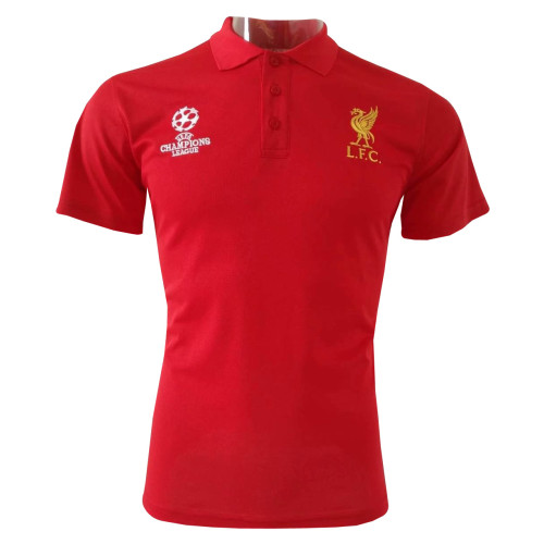 separation shoes 00e37 b17ed Liverpool Polo Shirt Champions League Red 2018/19