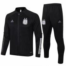 Mens Argentina Jacket + Pants Training Suit Black 2020/21