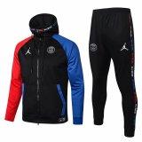 Mens PSG x Jordan Hoodie Jacket + Pants Training Suit Black 2020/21