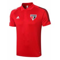 Mens Sao Paulo FC Polo Shirt Red 2020/21