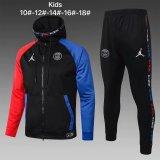 Kids PSG x Jordan Hoodie Jacket + Pants Training Suit Black 2020/21