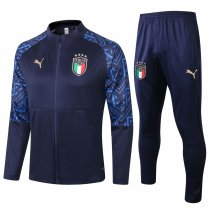 Mens Italy Jacket + Pants Training Suit Navy 2020/21