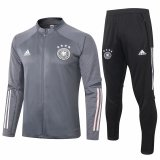 Mens Germany Jacket + Pants Training Suit Dark Grey 2020/21