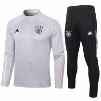 Mens Germany Training Suit Light Grey 2020/21