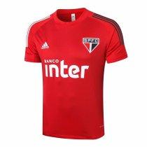 Mens Sao Paulo FC Short Training Jersey Mens Red 2020/21
