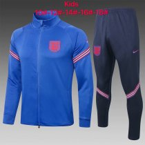 Kids England Jacket + Pants Training Suit Blue 2020/21