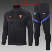 Kids Netherlands Jacket + Pants Training Suit Black 2020/21