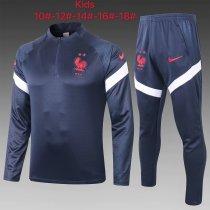 Kids France Training Suit Navy 2020/21