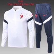 Kids France Training Suit White 2020/21