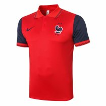 Mens France Polo Shirt Red 2020/21
