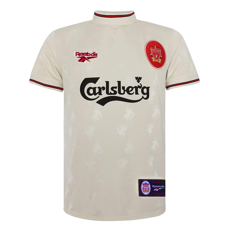US$ 18.80 - Liverpool Retro Away Jersey Mens 1996/1997 - www.fcsoccerworld.com