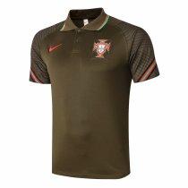 Mens Portugal Polo Shirt Deep Green 2020/21