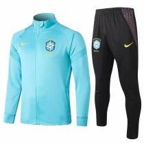 Mens Brazil Jacket + Pants Training Suit Blue 2020/21