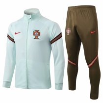 Mens Portugal Jacket + Pants Training Suit Green 2020/21