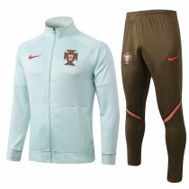 Mens Portugal Jacket + Pants Training Suit Green II 2020/21